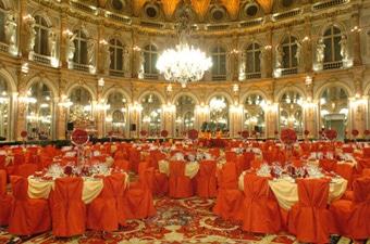 Mise en place de la rŽception du samedi 18 marsSalon OpŽra - INTERCONTINENTAL LE GRAND HOTEL PARIS