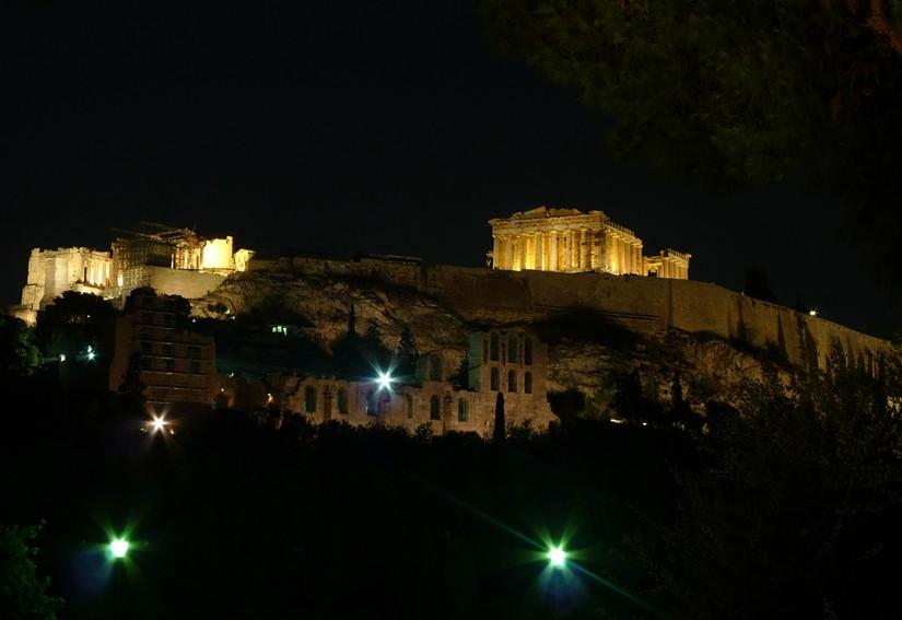 ATHENES - ACROPOLE VUE LE SOIR