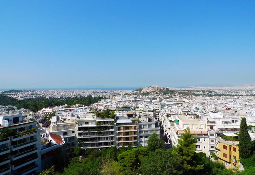 ATHENES - vue panoramique sur l'Acropole