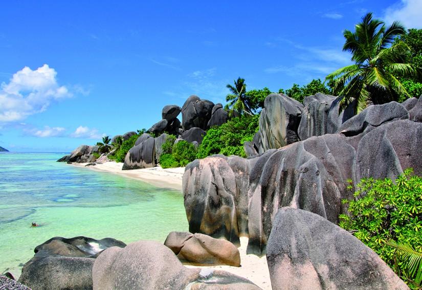 Les Seychelles - La Digue : Anse Source d'Argent