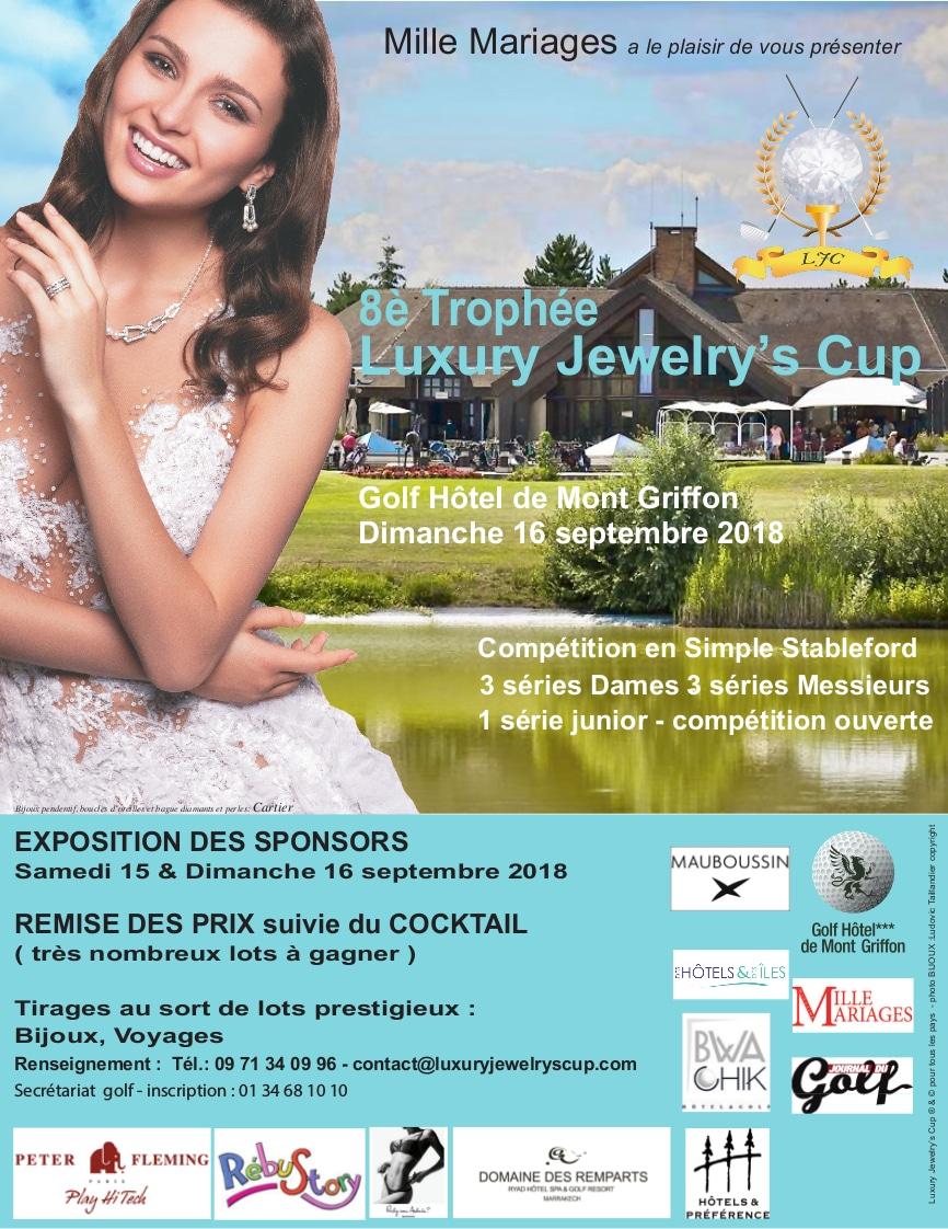 affiche du 8ème trophée de golf Luxury Jewelry's Cup au golf de Mont-Griffon