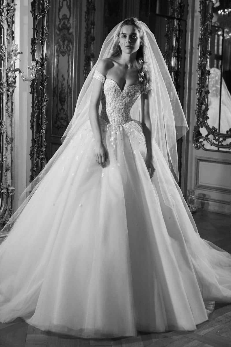 robe de mariée princesse Elie Saab pour le bal de Vienne collection mariage Mille Mariages robe n°10
