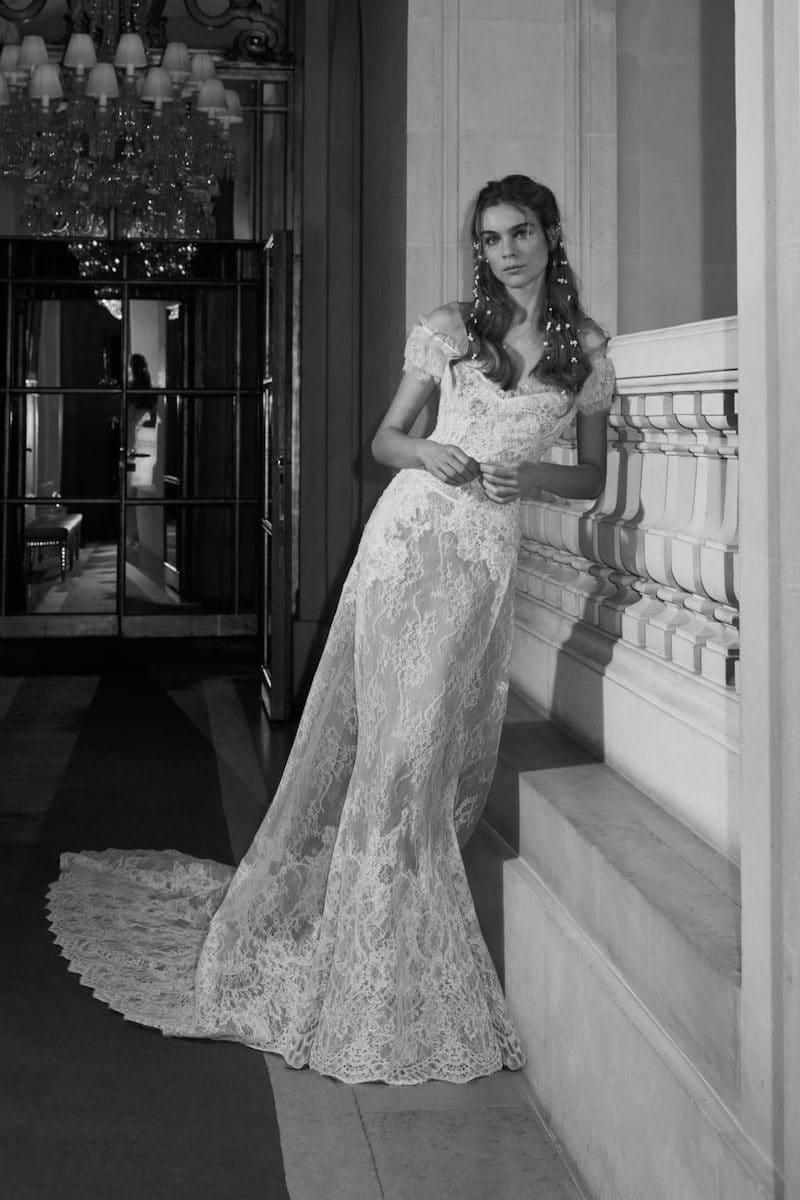 robe de mariée princesse Elie Saab pour le bal de Vienne collection mariage Mille Mariages robe n°17 traine