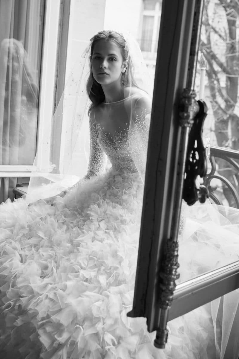 robe de mariée princesse Elie Saab pour le bal de Vienne collection mariage Mille Mariages robe n°4