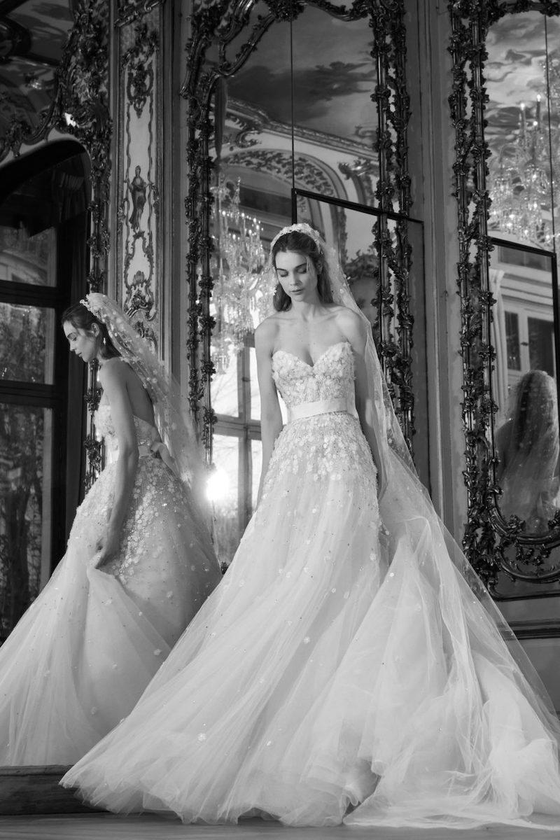 robe de mariée princesse Elie Saab pour le bal de Vienne collection mariage Mille Mariages robe n°5