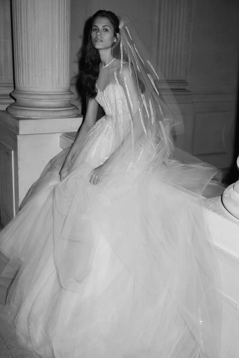 robe de mariée princesse Elie Saab pour le bal de Vienne collection mariage Mille Mariages robe n°9