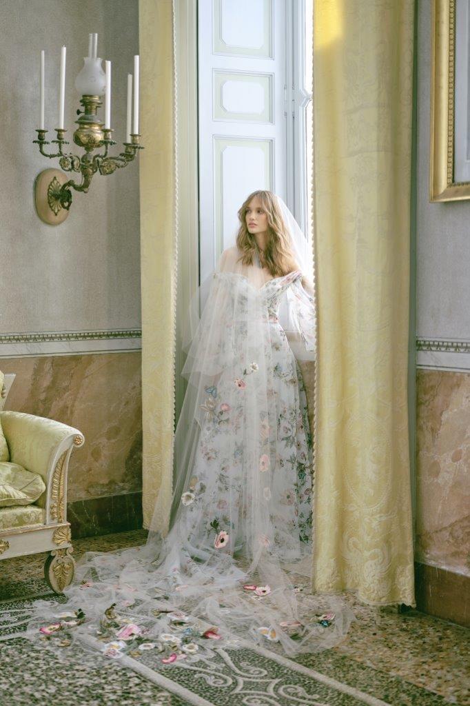 robe de mariée Monique Lhuillier collection mariage automne 2020 pour mille mariages robe n°1