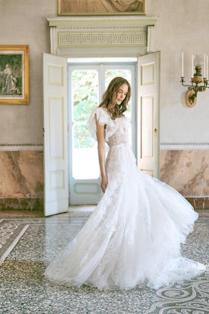 robe de mariée Monique Lhuillier collection mariage automne 2020 pour mille mariages robe n°2