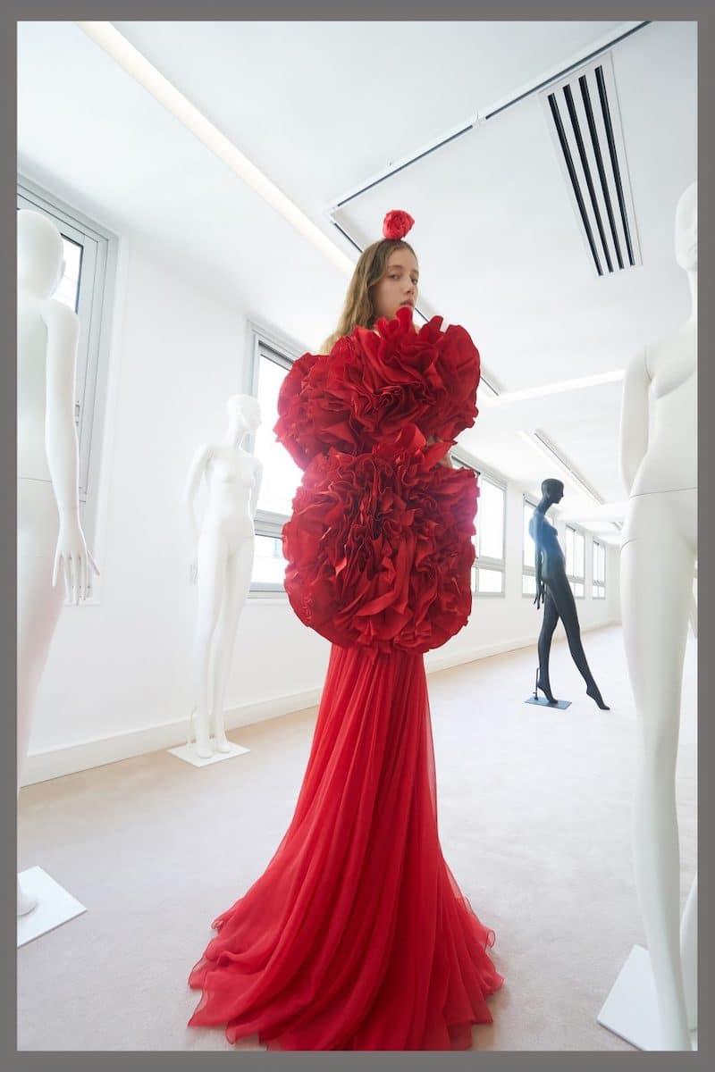 robe de mariée du soir de cocktail Giambattista Valli haute couture collection automne 2019 pour Mille Mariages robe n°10