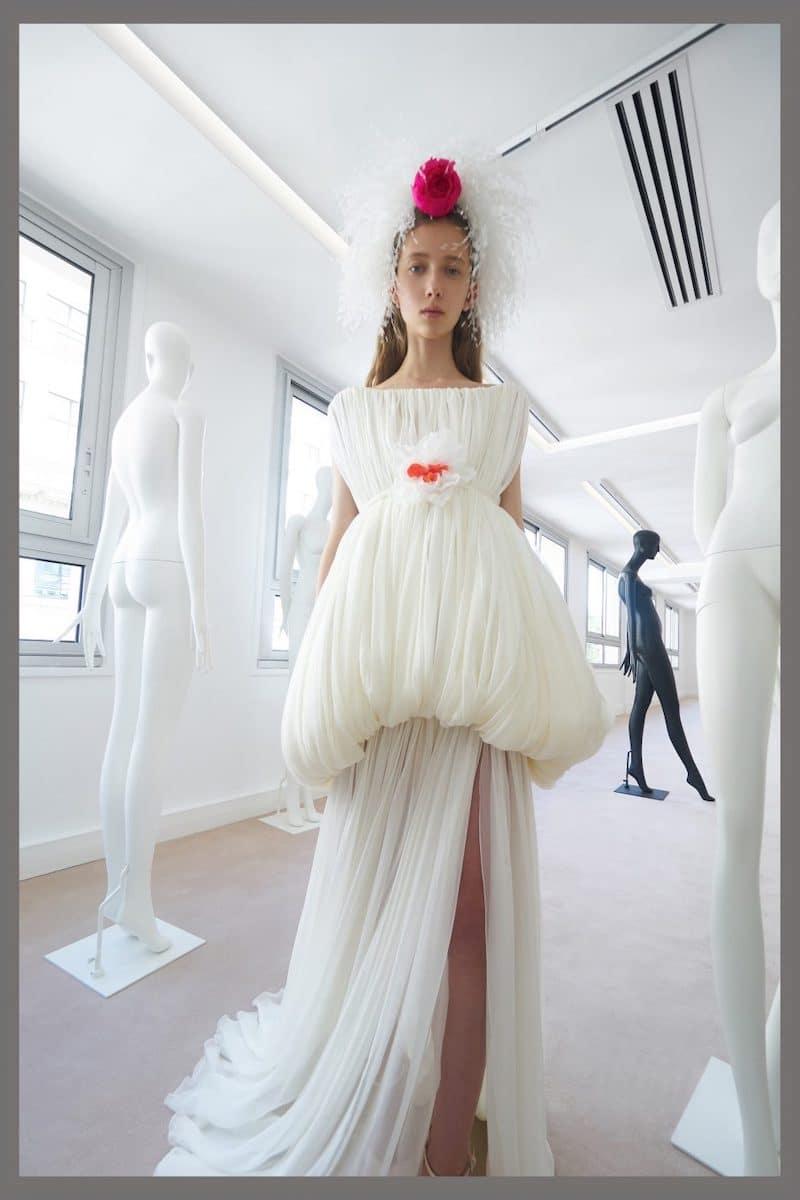 robe de mariée du soir de cocktail Giambattista Valli haute couture collection automne 2019 pour Mille Mariages robe n°9
