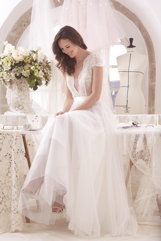 La robe de mariée sur mesure Clémentine de l'atelier émélia