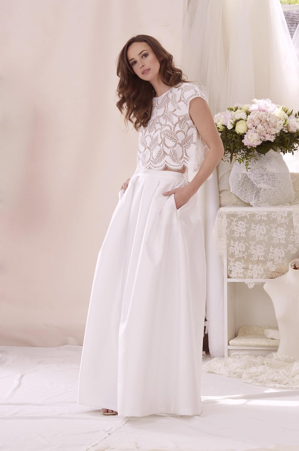 la robe de mariée aquarelle de l'atelier émélia