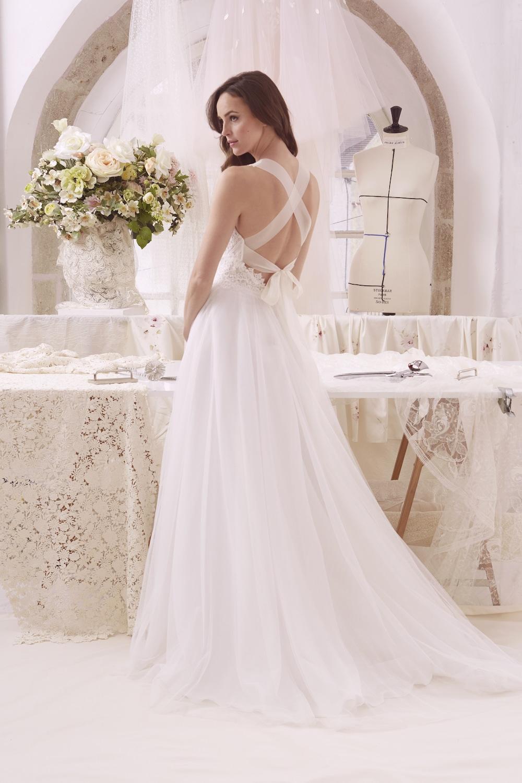 robe de mariée cristina de l'atelier emelia vus de dos