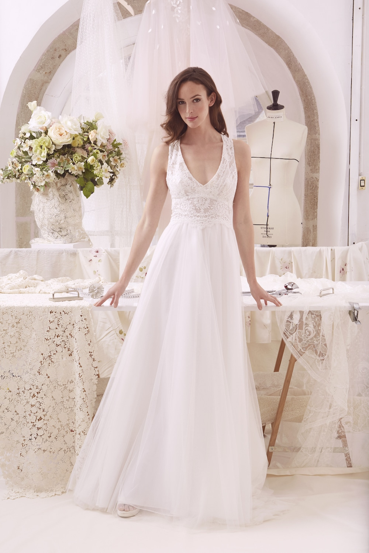 robe de mariée cristina vue de face de l'atelier émélia