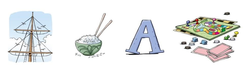 le rébus mat + riz + a + jeux