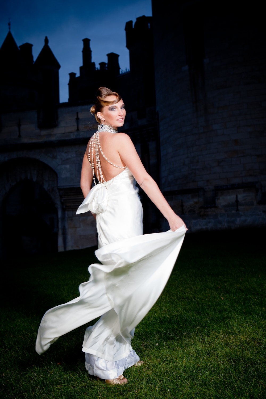 robe de mariee dos perle